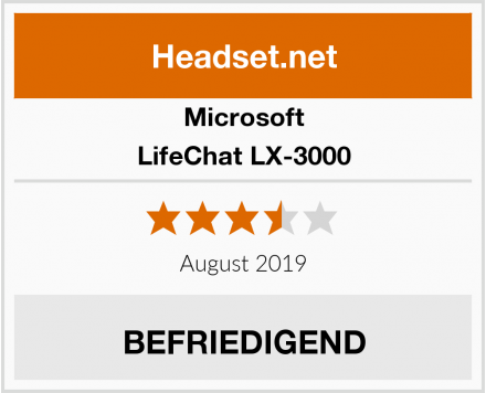 Microsoft LifeChat LX-3000 Test