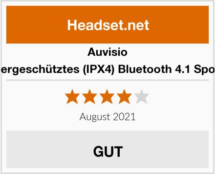 auvisio Spritzwassergeschütztes (IPX4) Bluetooth 4.1 Sport-Headset Test