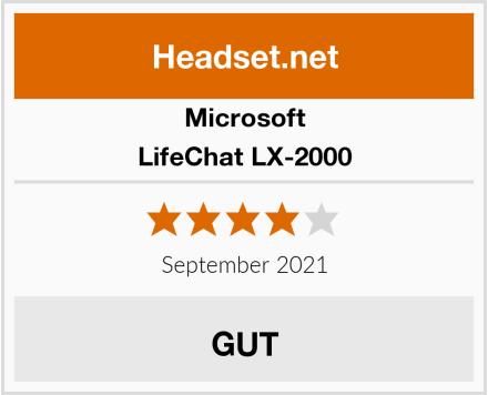 Microsoft LifeChat LX-2000 Test