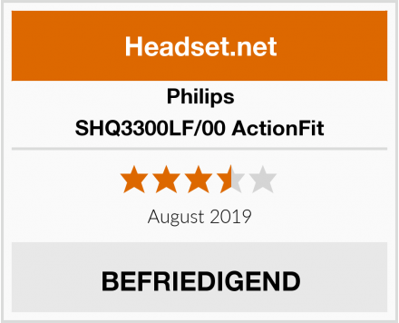 Philips SHQ3300LF/00 ActionFit Test