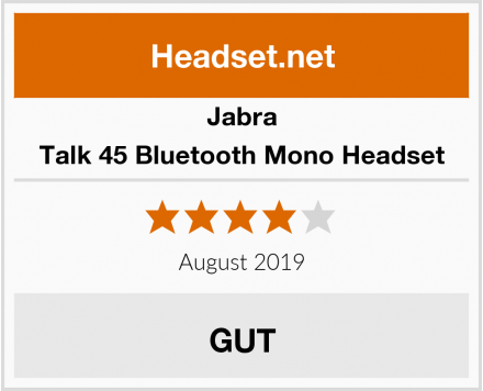 Jabra Talk 45 Bluetooth Mono Headset Test