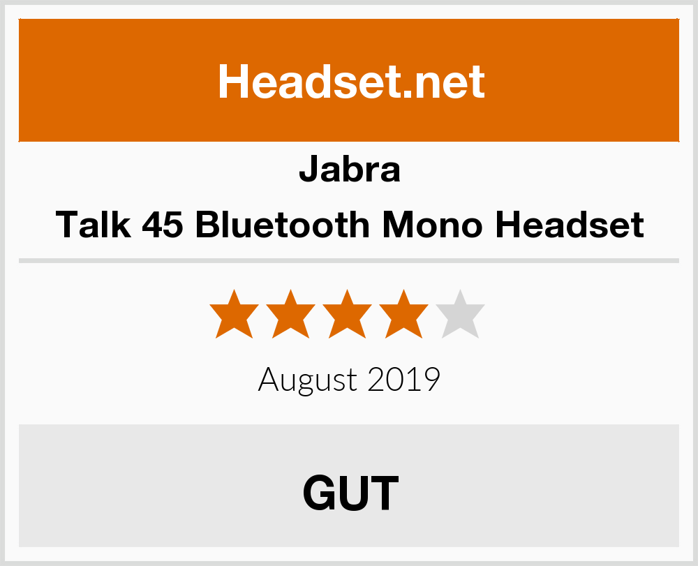 Jabra Talk 45 Bluetooth Mono Headset