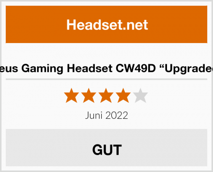 """Samoleus Gaming Headset CW49D """"Upgraded Red"""" Test"""