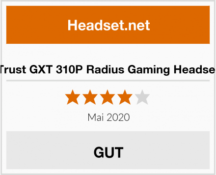 Trust GXT 310P Radius Gaming Headset Test
