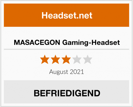 MASACEGON Gaming-Headset Test