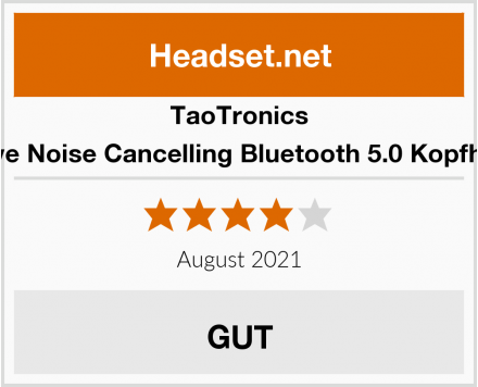 TaoTronics Active Noise Cancelling Bluetooth 5.0 Kopfhörer Test