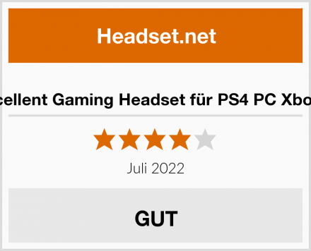 Beexcellent Gaming Headset für PS4 PC Xbox One Test