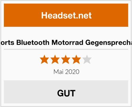 Fodsports Bluetooth Motorrad Gegensprechanlage Test