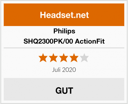 Philips SHQ2300PK/00 ActionFit Test