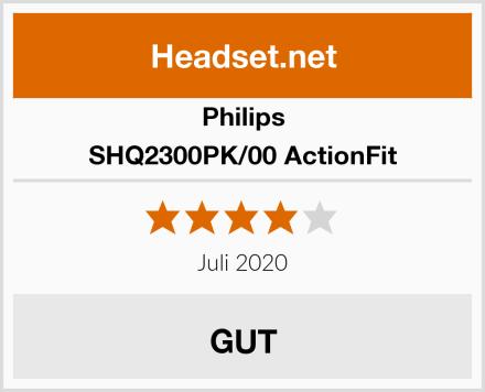 Philips SHQ2300PK/00 ActionFit Test