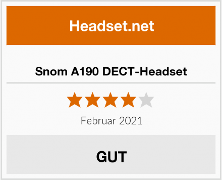 Snom A190 DECT-Headset Test