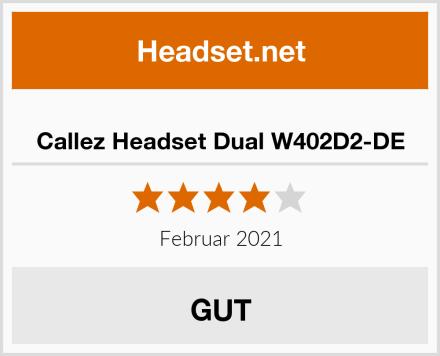 Callez Headset Dual W402D2-DE Test