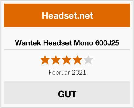 Wantek Headset Mono 600J25 Test