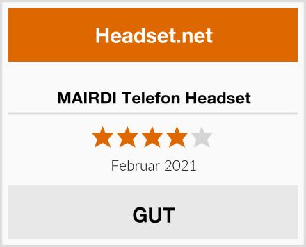 MAIRDI Telefon Headset Test