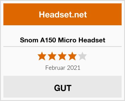 Snom A150 Micro Headset Test
