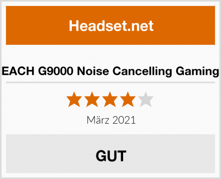 KOTION EACH G9000 Noise Cancelling Gaming Headset Test