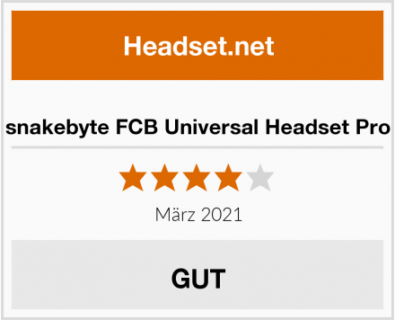 snakebyte FCB Universal Headset Pro Test
