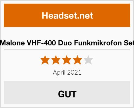 Malone VHF-400 Duo Funkmikrofon Set Test