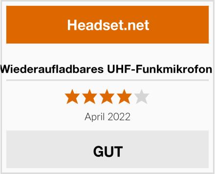 SHIDU Wiederaufladbares UHF-Funkmikrofon System Test