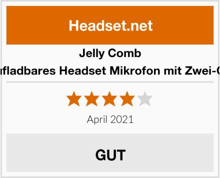 Jelly Comb Wiederaufladbares Headset Mikrofon mit Zwei-Ohrhaken Test