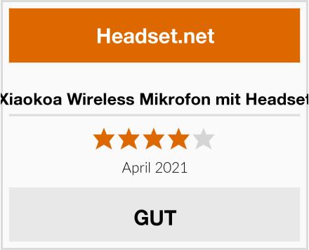 Xiaokoa Wireless Mikrofon mit Headset Test
