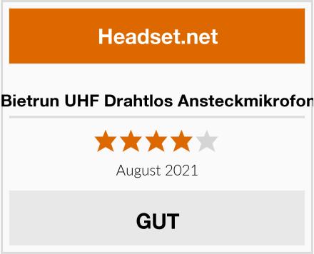 Bietrun UHF Drahtlos Ansteckmikrofon Test