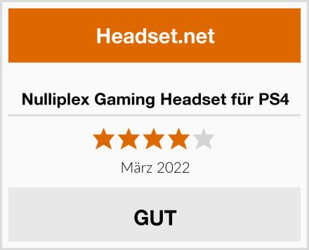 Nulliplex Gaming Headset für PS4 Test