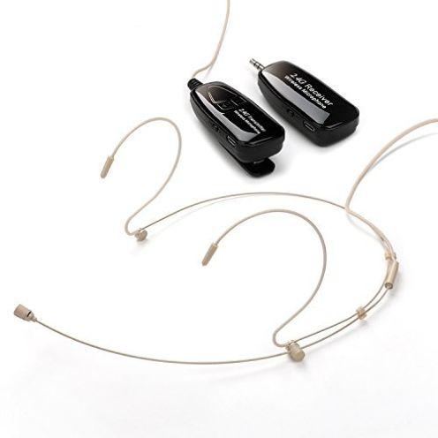 Jelly Comb Wiederaufladbares Headset Mikrofon mit Zwei-Ohrhaken