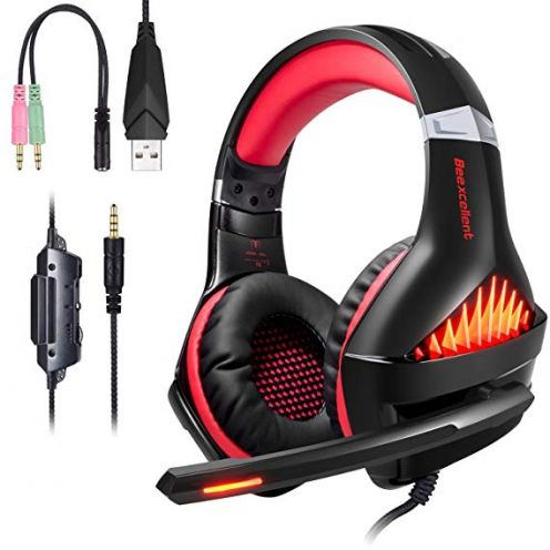 "Samoleus Gaming Headset CW49D ""Upgraded Red"""