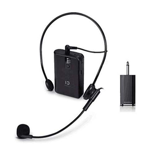 SHIDU Wiederaufladbares UHF-Funkmikrofon System